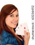 beautiful smiling brunette girl ... | Shutterstock . vector #63236452