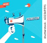 online marketing promotion for... | Shutterstock .eps vector #632369591