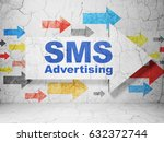 marketing concept   arrow with... | Shutterstock . vector #632372744