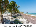 the beach in mahahual  mexico | Shutterstock . vector #632381081