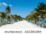 beach road in mahahual  mexico | Shutterstock . vector #632381084