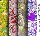 set of tracery colorful...   Shutterstock .eps vector #632383934
