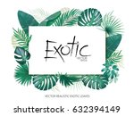 summer tropical background with ... | Shutterstock .eps vector #632394149