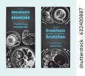 breakfast and brunches vintage... | Shutterstock .eps vector #632400887