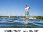 father and son having fun... | Shutterstock . vector #632402489