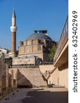 Small photo of SOFIA, BULGARIA - APRIL 1, 2017: Banya Bashi Mosque and ruins of ancient Serdica in Sofia, Bulgaria