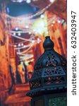 egyptian vintage metal lantern... | Shutterstock . vector #632403947