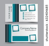 business card set template for... | Shutterstock .eps vector #632404685