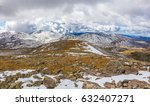 beautiful landscape of snow... | Shutterstock . vector #632407271