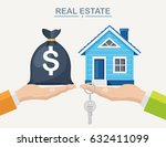 buying a house. real estate and ... | Shutterstock .eps vector #632411099