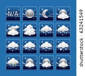 weather icons : night set - stock vector