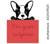 cute and funny cartoon  puppy... | Shutterstock .eps vector #632419025