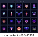 set of animal icons. abstract...   Shutterstock .eps vector #632419151
