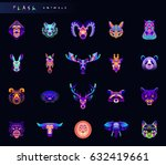 set of animal icons. abstract... | Shutterstock .eps vector #632419661