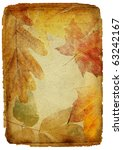 vintage autumn framed background | Shutterstock . vector #63242167