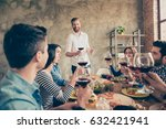 young handsome bearded guy is...   Shutterstock . vector #632421941