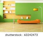 modern couch in a green living... | Shutterstock . vector #63242473