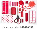 sewing kit accessories and... | Shutterstock . vector #632426651