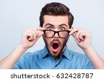 wow  really   surprised young... | Shutterstock . vector #632428787