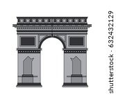 color image cartoon monument... | Shutterstock .eps vector #632432129