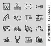 lift icons set. set of 16 lift...   Shutterstock .eps vector #632433134