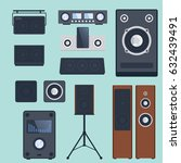 home sound system stereo flat...   Shutterstock .eps vector #632439491