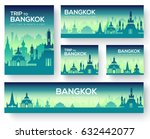 set of bangkok landscape... | Shutterstock .eps vector #632442077