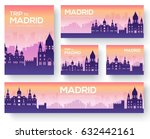 set of madrid landscape country ... | Shutterstock .eps vector #632442161