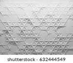 white polygonal triangle... | Shutterstock . vector #632444549