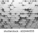 white polygonal triangle... | Shutterstock . vector #632444555