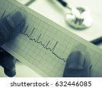 heart breath graph report for... | Shutterstock . vector #632446085