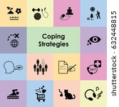 vector icons for coping... | Shutterstock .eps vector #632448815