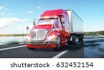 semi trailer  truck on the road ... | Shutterstock . vector #632452154