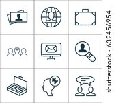 business management icons set.... | Shutterstock .eps vector #632456954