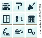construction icons set.... | Shutterstock .eps vector #632457239