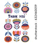 thank you card. quote poster... | Shutterstock .eps vector #632460059