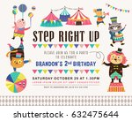 kids birthday party invitation...   Shutterstock .eps vector #632475644