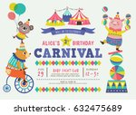kids birthday party invitation... | Shutterstock .eps vector #632475689
