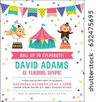 kids birthday party invitation... | Shutterstock .eps vector #632475695