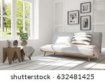 white room with sofa and green... | Shutterstock . vector #632481425