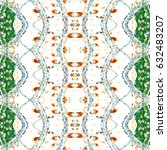 melting colorful symmetrical... | Shutterstock . vector #632483207