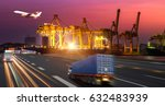 logistics and transportation of ... | Shutterstock . vector #632483939
