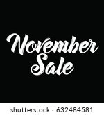 november sale  text design.... | Shutterstock .eps vector #632484581