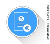 document button icon business... | Shutterstock . vector #632485859