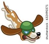 flying spaniel dog vector...   Shutterstock .eps vector #632490371