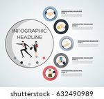 business concept timeline.... | Shutterstock .eps vector #632490989