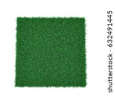 square of green grass field on... | Shutterstock . vector #632491445