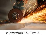metal sawing close up | Shutterstock . vector #63249403