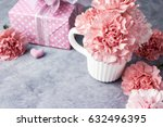 mothers day concept of pink... | Shutterstock . vector #632496395