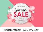 summer sale background layout...   Shutterstock .eps vector #632499629